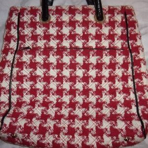 Vera Bradley Red White Gingham Check Handbag
